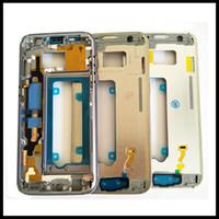 boîtier à mi-cadre achat en gros de-Cadre médian d'origine pour Samsung Galaxy S7 bord G930F S7 bord G935F avant LCD support boîtier de protection cadre cadre + bouton latéral
