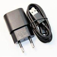 Wholesale Mircro Usb Charger - Wholesale-Original 5V 1.3A EU Plug USB Travel Charger Adapter + Mircro USB Data Cable For Nokia lumia 625 920 1020 900 920t 925t 1020