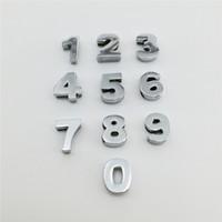 bilezik için numara çekicileri toptan satış-Toptan 50 Adet / grup 10 MM Slayt Numaraları
