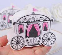 "Wholesale Pumpkin Wedding Favor Bag - Romantic Fairy Tale Cinderella Pumpkin Carriage Candy Boxes ""Enchanted Carriage"" Fairytale Themed Favor Box Wedding Boxes party box gift bag"