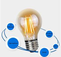 Wholesale Nostalgic Bulbs - A19 Edison LED Filament Bulbs 2W 4W 6W 8W A60 E27 B22 E26 110V 220V Dimmable LED Filament Lamp Warm Cool White Nostalgic COB LED Bulb