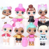 LOL Bambole a sorpresa Figure LOL Doll Action Figure Giocattoli Sorprendente Doll Dress Giocattoli per ragazze 8pcs / set OOA3816