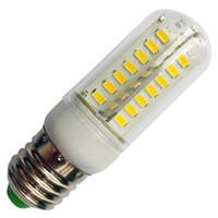 Wholesale bulb e27 corn 12w online - 2015 New Design Ultra Bright LED Corn Bulb W W E27 V Cold Warm White Mini LED Lamp With CREE xSMD5630 Clear Cover