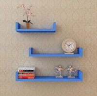 Wholesale 3 layers Wood shelf on wall home living room furniture home decoration house panel design bookcase stuff racks
