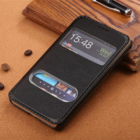 Wholesale Galaxy Sii Phone Covers - Luxury Leather PU Flip Case For Samsung Galaxy S2 SII i9100 9100 Phone Cover Stand Cases Double View Windows Design PY
