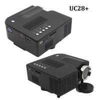 Wholesale home multimedia systems - Wholesale- Projector UC28 UC28+ full Color LED Digital toy beamer Multimedia Home Cinema Theater system support HDMI  VGA AV USB SD 1080P