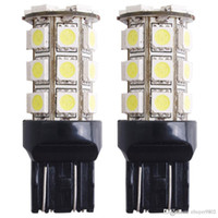 2pcs voiture 7443 7440 T20 lampe ampoule de frein de queue 5050SMD blanc 27 LED 12V 2.5W 250LM