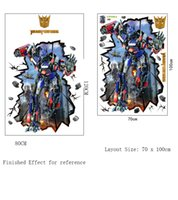 Wholesale Optimus 3d - 80 X 120CM Removable 3D Transformers Optimus Prime Wall Stickers Decal Sticker Home Wall Art Mural Decor for Boy's Room Living Room