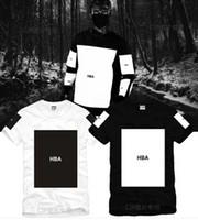 trill t-shirts großhandel-Größe S - 3XL 2017 Sommert-shirt Haube durch Luft HBA Trill Kanye freier Druck Hba T-Stück Männer T-Shirts 5 Farbe 100% Baumwolle gewesen