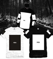 ingrosso uomini camicia hba-Taglia S - T-shirt 3XL 2017 estate Hood By Air HBA Trill Kanye stampa bianca T-shirt uomo Hba t-shirt 5 colori 100% cotone