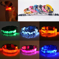 Wholesale Waterproof Led Light Collar - 2015 New Pets Dog LED Lights Leopard Flash Night Safety Waterproof Collar Adjustable
