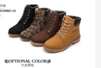 Wholesale Mens Winter Boots Free Shipping - Wholesale Warm Men's Winter Leather Boot Outdoor Waterproof Rubber Snow boots Leisure Martin Boots England shoes for mens free shipping