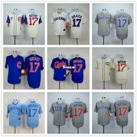 Wholesale Dress Rips - 30 Teams- Chicago Cubs 17 Kris Bryant Jersey Size S ~ XXXL Customize Embroidery Stitched Baseball Shirt Sports Dress Free Shipping