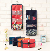 Wholesale Traditional Chinese Red - Hanging Toiletry Kit Travel Bag Cosmetic Bags Carry Case Makeup Packing Organizer with Breathable Mesh Pockets