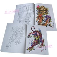Wholesale Tattoo Sketchbooks - Wholesale-Tattoo book Flash 2015 new dragon tribe designs works manuscripts Sketch 3D Art body sketchbook painting kits free shipping