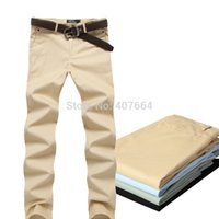 Wholesale Cheap Men Pants For Sale - Wholesale-2015 new sale!Korea style men's pants,cotton casual pants for men trousers suit pants plus size 36 cheap good quality