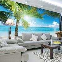 Cheap Silk Wallpaper Sea Wallpaper Best Non Woven Smoke Proof Wall Mural