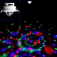 Gros-Hooks Conception Enery Saving 3W Full Color LED Auto vocale plafond Rotating RVB Stage de lumière DJ Disco KTV Lamp