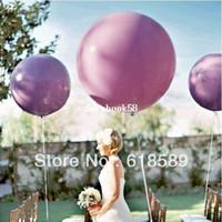 globos gigantes de boda al por mayor-Envío Gratis 10 Unids / lote 36 Pulgadas Helio Inflable Globos de Látex Gigante Para La Boda Decoración de La Fiesta de Cumpleaños