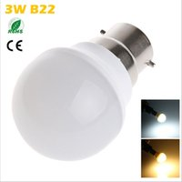 Wholesale pc globe bulb for sale - Group buy Super bright CREE B22 LED Bulb Lamp W SMD Cool White Warm White LED Spot Light With PC Shade Home Decoration Lighting