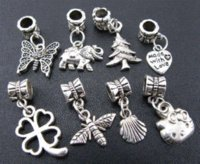 Wholesale Mix Dangle Beads - 2014 Special Offer Hot Sale Freeshipping Metal Beads Wholesale Bulk 80cps Mix Tibetan Dangle Beads Fit Charm Bracelet (3119)