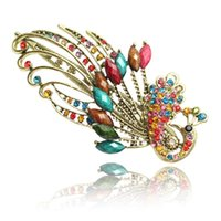 Wholesale Bohemian Retro - [ VIP ] trade jewelry wholesale bohemian peacock beak clip hairpin retro Phoenix headdress