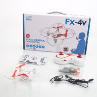 Wholesale RC Drones FX V G CH Axis Gyro CF New Headless Mode One Press Automatic Return Voice Controlled RC Quadcopter Mode