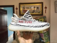 Compra Zebra Bianca Rosa-2017 ORIGINALS 350 BOOST V2 ZEBRA SPLY-350 NERO BIANCO NERO ROSA RUNNING SHOES PER UOMO KANYE WEST SPORT SHOES DONNA BOOST 350