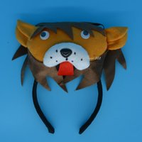 favores de la pajarita al por mayor-2017 Nueva Animal Lion Ears Headband Bow Tie Tail Cosplay Performance Props Halloween Carnaval Party Favors regalo