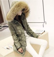 Wholesale Womens Parka Fur Hood Long - Luxurious Winter Warm Thick Womens Ladies Real fur Long Hood Coat Jacket Parka