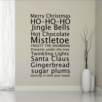 Wholesale Diy Removable Word Wall Stickers - Merry Christmas Greetings Proverbs Wall Stickers Home Decor Living Room Diy Art Decals Removable HOUSE RULES Words Wall Decals