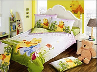 Wholesale Twin Beds For Kids - Kids Toddler cute cartoon cotton bedding sets for twin queen king size beds bed linen reversible duvet cover sheet comforter set