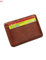 Wholesale Quality New Mens Money Clip Leather Billfold Clamp Wallets Magic Wallet Card Holder Money With Card Hold Luxury Men Wallets Brown SV020143