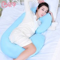 Wholesale Maternity Pregnant Nursing Sleep - Wholesale- pregnancy pillow C-shape pillows soft breathable maternity women sleep pillow for pregnant women nursing pillow