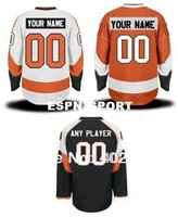Wholesale Pls Hockey - Factory Outlet, Flyers customized   custom hockey jersey, orange, white, black colors, personalized jersey, pls read size chart before order
