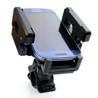 Wholesale Gps Navigator Bike - Universal Bike Cycling Mounts Holder Stands for Cell Phone Smart Phone GPS MP3 MP4 Navigator Black Color Adjustable with Box