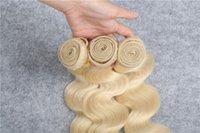 Wholesale Boby Wave Brazilian Hair - Save 50% Blonde Hair Extension #613 Color Hair Weft Boby Wave Hair Bundles Brazilian Human Hair 4Pcs Lote