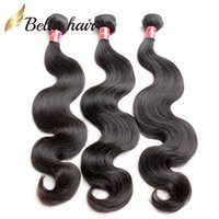 Cheap Virgin Human Hair Indian Européen Péruvien Brésilien Malaysian Cambodgien 3pcs Bundle Hair Double Extension de trame Body Wave Bellahair