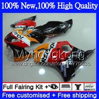 Wholesale Cbr Repsol Body Kit - Body Motorcycle For HONDA Repsol orange CBR600F4 CBR600 F4 99 00 FS 44MY3 CBR 600F4 99 CBR600 FS CBR600FS CBR 600 F4 1999 2000 Fairing kit
