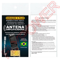 Wholesale Wholesale Cell Phone Booster - New Shiny Cell phones Signal antenna booster sticker generation X Plus X-Plus in Portuguese Packing by free shipping 500pcs lot
