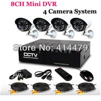DIY 8CH Home Security MINI DVR Recorder Sistema 4PCS IR Weatherproof Outdoor Vigilância CCTV Camera Kit