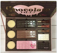 Wholesale Eyeshadow Primer Set - Newest Hot Brand Faced Limited Edition Chocolate Vault eyeshadow foundation primer makeup set for 2018 Christmas gift DHL shipping