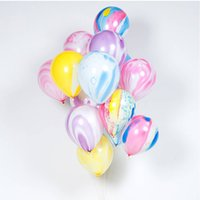 Wholesale Toy Marble Wholesalers - Creative Colorful 12inch Marble Agate Latex Balloons Birthday Party Decorations Baby Shower Party Supplies Drop Shipping