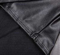 Wholesale Wholesale Black Leather Skirt - Wholesale-hot sale 2015 Womens PU Leather Skirt Q001 New Fashion Sexy Black Popular Matte Fashion Skirts