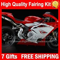 7gifts + Carrozzeria per MV Agusta F4 05-06 Red bianchi R312 750S 1000 2005 2006 4CL76 R 750 1000R 312 Glossy rosso 1078 1 + 1 MA Kit 05 06 Carena