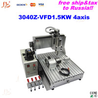 Wholesale Rotational Axis - LY 3040Z-VFD1.5KW 4axis already assembled CNC router 1.5KW VFD water cooling spindle+rotational axis to Russia free tax