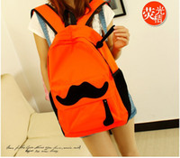 Wholesale Big Backpacks Mustache - New 2015 Fashion Women Backpack Candy Color Famous Brand Beard School Bag For Women Casual Big Mustache Backpacks
