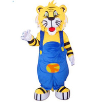 Wholesale Deluxe Tiger Costume - Plump Tiger Mascot Costume Deluxe Fancy Dress Real Pictures Fancytrader FT31024