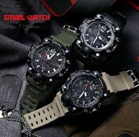 Wholesale Oval Display - SMAEL Men Brand Sports Watch Multifunction Date Display Luminous Waterproof Digital Military Outdoor Watches