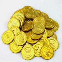 Wholesale kids pirate ships toys - 100pcs Free shipping Pirate Game Coin Child Plastic Toy Coin Game Coin Chips Fashion Children Toy Math Kid Toys